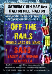 off the rails lift fundraiser May 6