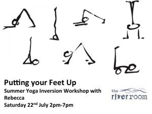 Putting Your Feet Up: Yoga Inversion Workshop with Rebecca