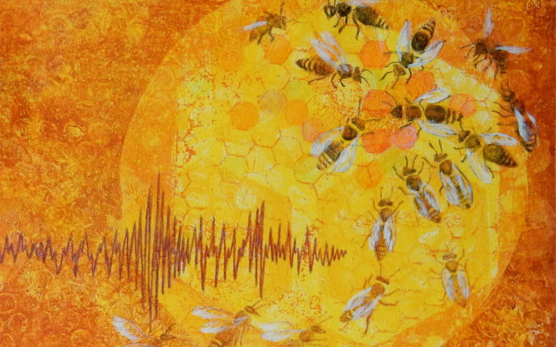 Mezzanine art exhibition: Sep 2- Oct 12, 'Bees; Time for a Buzz All Humming and Dancing', Catriona Stamp