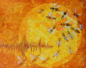 Mezzanine art exhibition: Sep 2- Oct 12, 'Bees; Time for a Buzz All Humming and Dancing', Catriona Stamp - PRIVATE VIEW